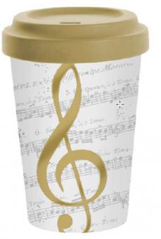 Becher Coffee-to-go Violinschlüssel