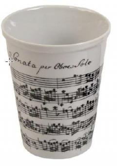 Becher Coffee-to-go Notenblatt