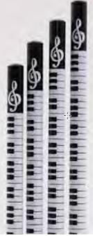 Bleistift Noten Noten (schwarz)