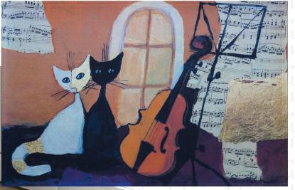 Fussmatte Rosina Wachtmeister Cats & Violin