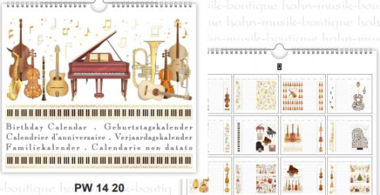 Geburtstagskalender Musica
