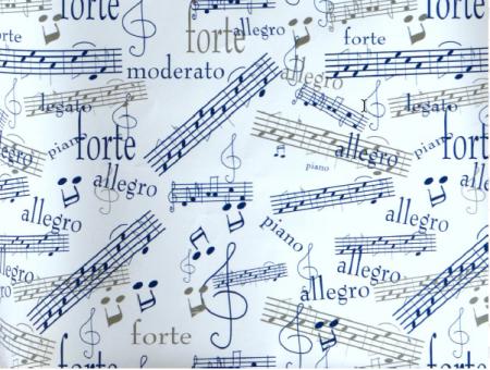 Geschenkpapier Musiksymbole