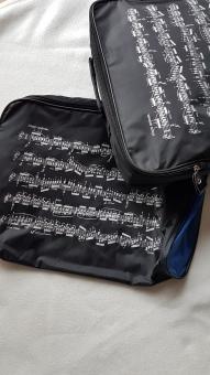 Tasche Musikunterricht Notenlinien