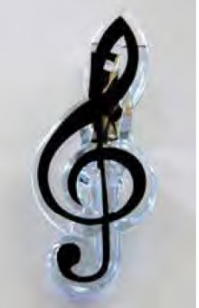 Notenklammer Violinschlüssel