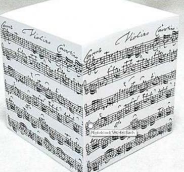 Notizblock Würfel Bach