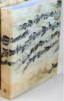 Notenordner creme A4 Notenblatt