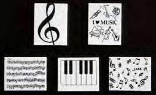 """Radierer """"I love music"""""""